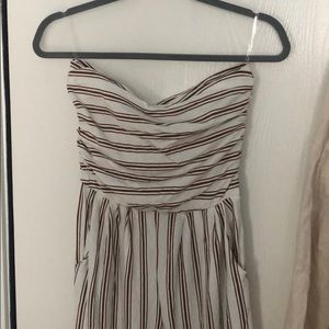 Forever 21 striped jumpsuit